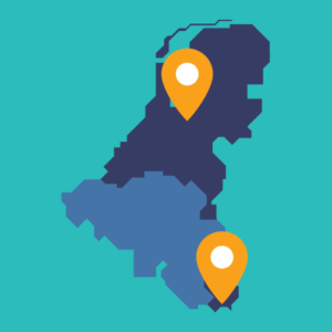 Locaties van Felton in de Benelux