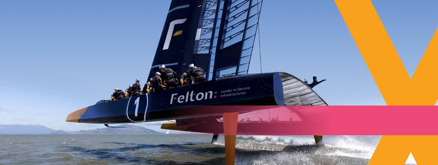 Felton hovercraft op het water