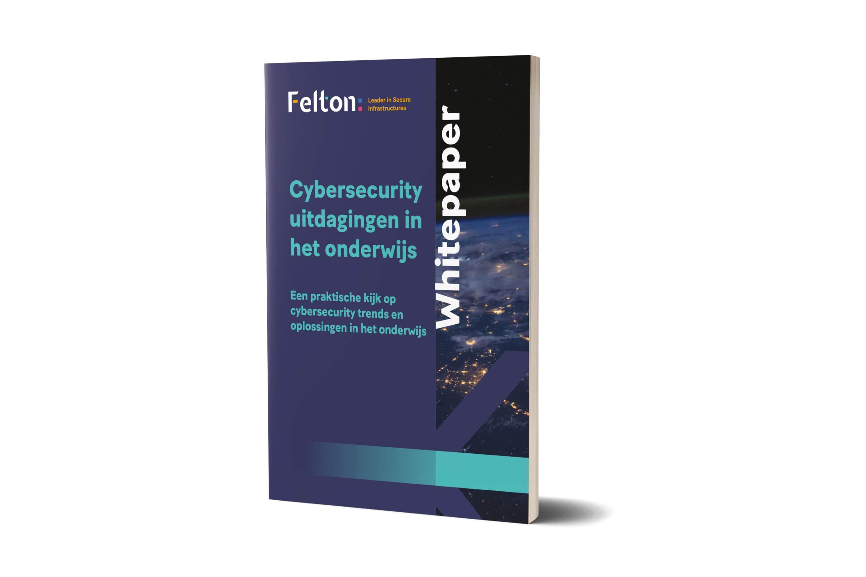 Voorkant van de Whitepaper Cybersecurity Onderwijs
